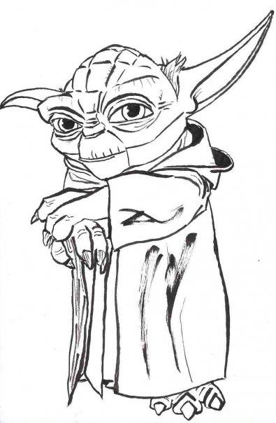 Comment dessiner yoda - Coloriage yoda ...
